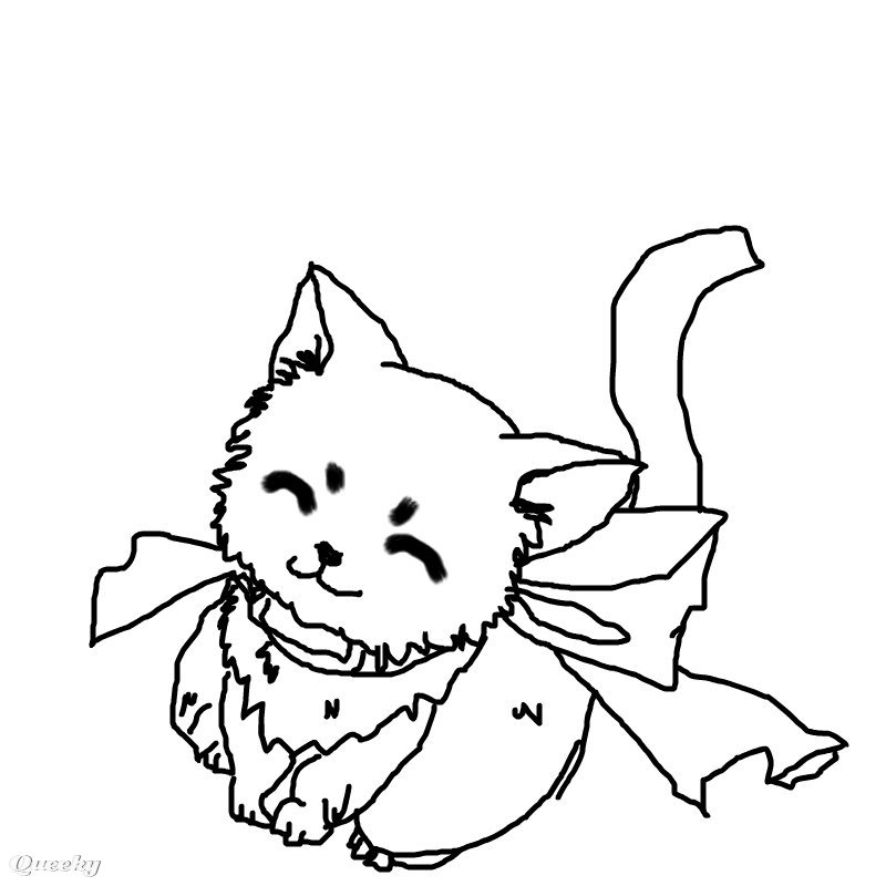 800x800 anime cat drawing anime girl cat drawings