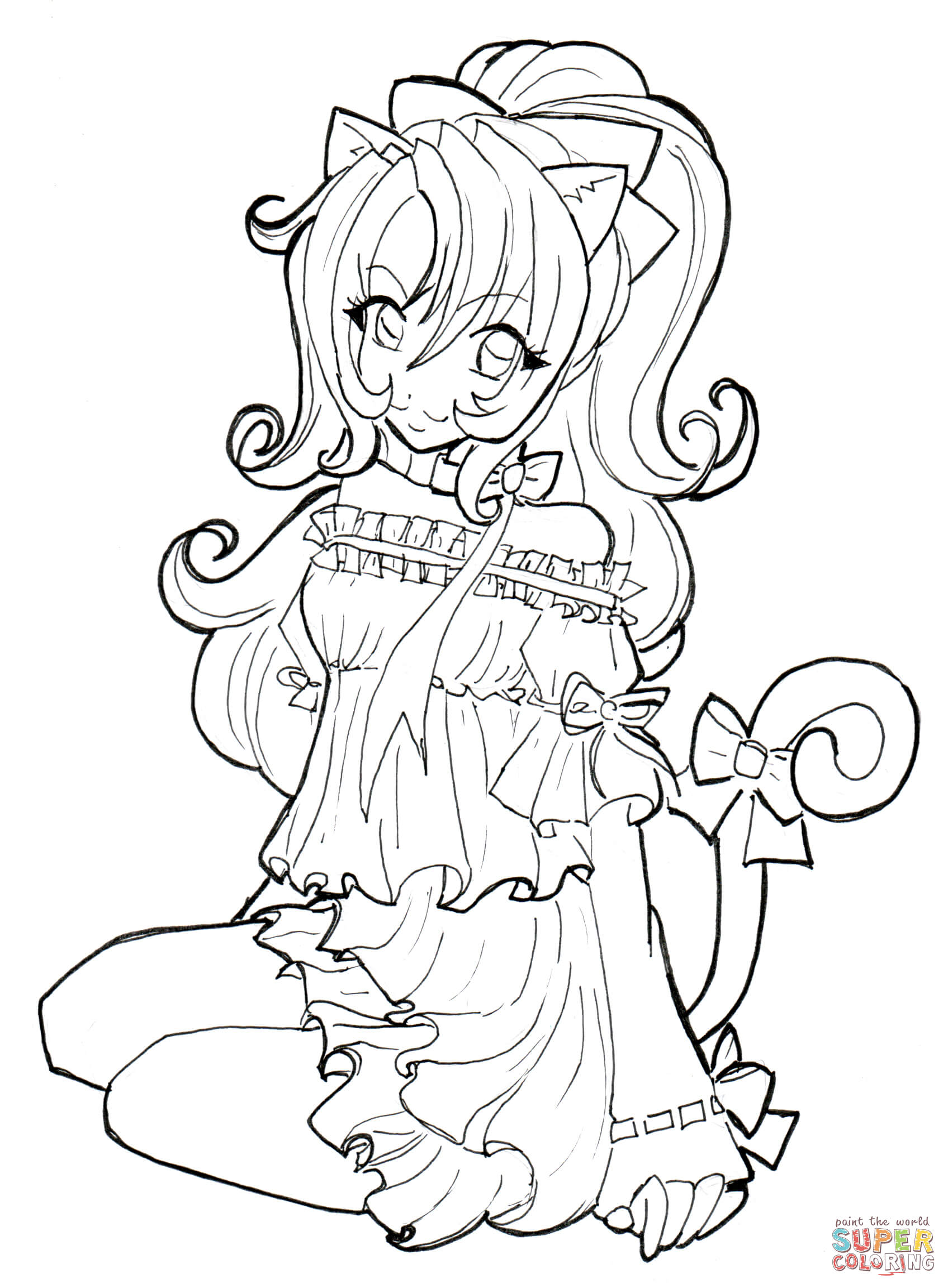1696x2305 Cat Girl Coloring Page Free Printable Coloring Pages
