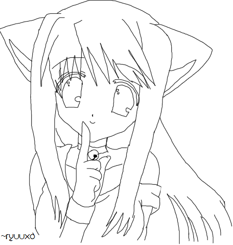 476x500 catgirl lineart by ryuuxd on deviantart