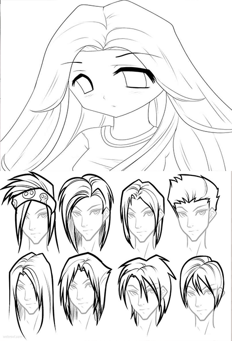 477x700 Drawing How To Draw An Anime Character Step By Step As Well As