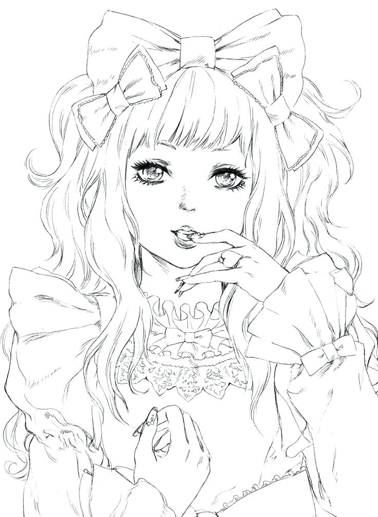 736x1007 Coloring Pages Of Anime Characters Anime Manga Coloring Saucy By