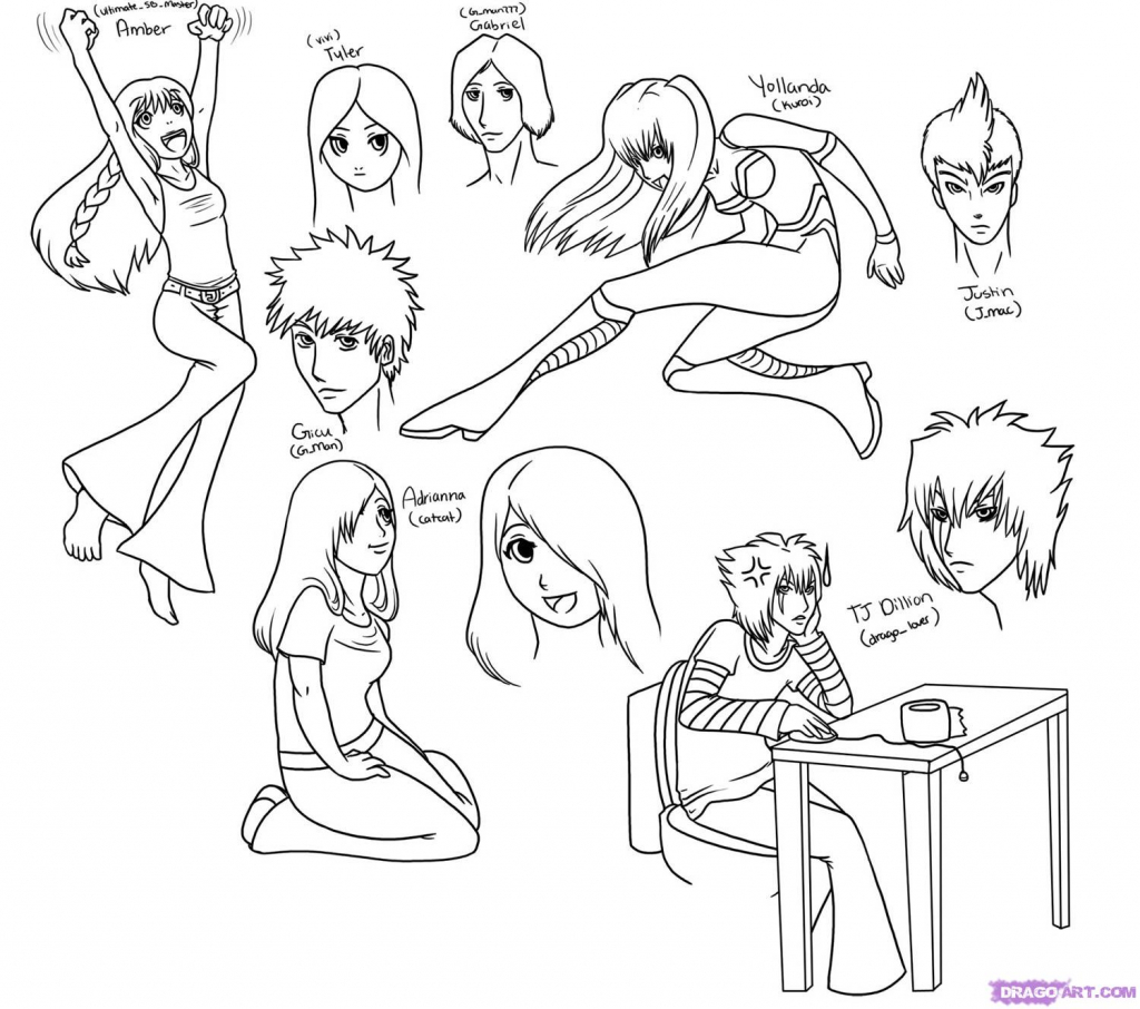 1024x906 Cool Anime Characters To Draw How To Draw Anime Characters Step