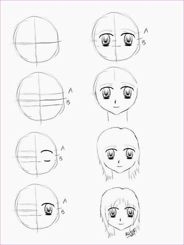 600x800 How To Draw Anime Characters Step By Step (30 Examples)