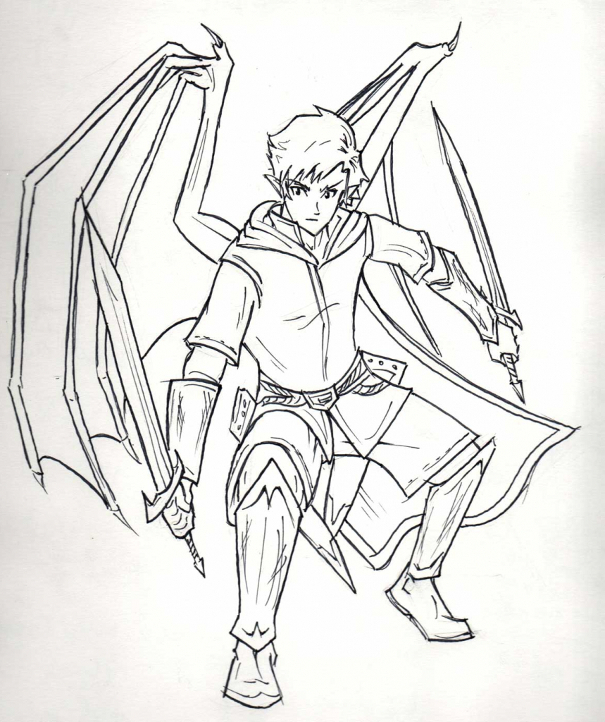 859x1024 Anime Characters Drawing Full Body