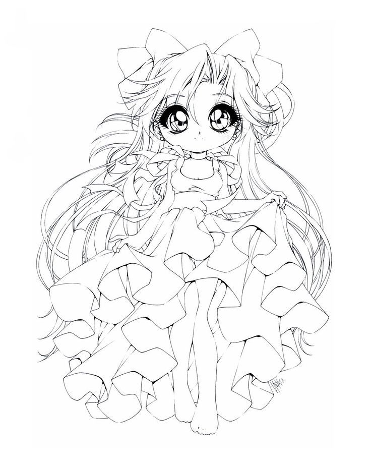 736x924 Chibi Anime Coloring Pages