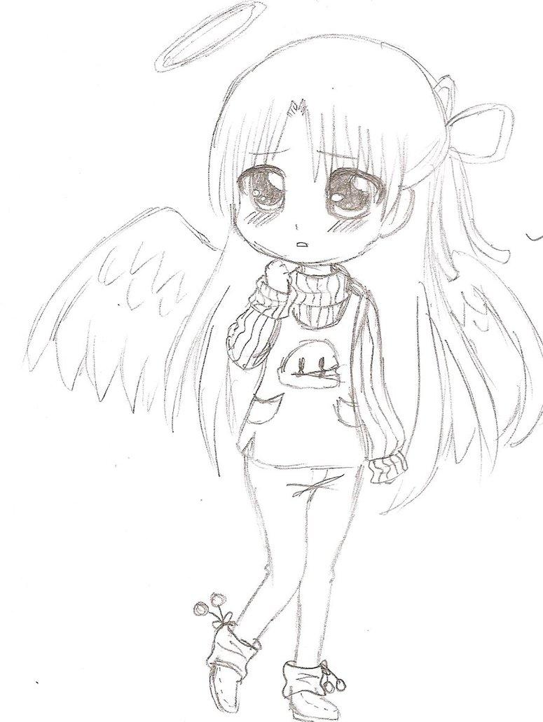 775x1031 Angel Beats Angel Chibi By Cristella Devon