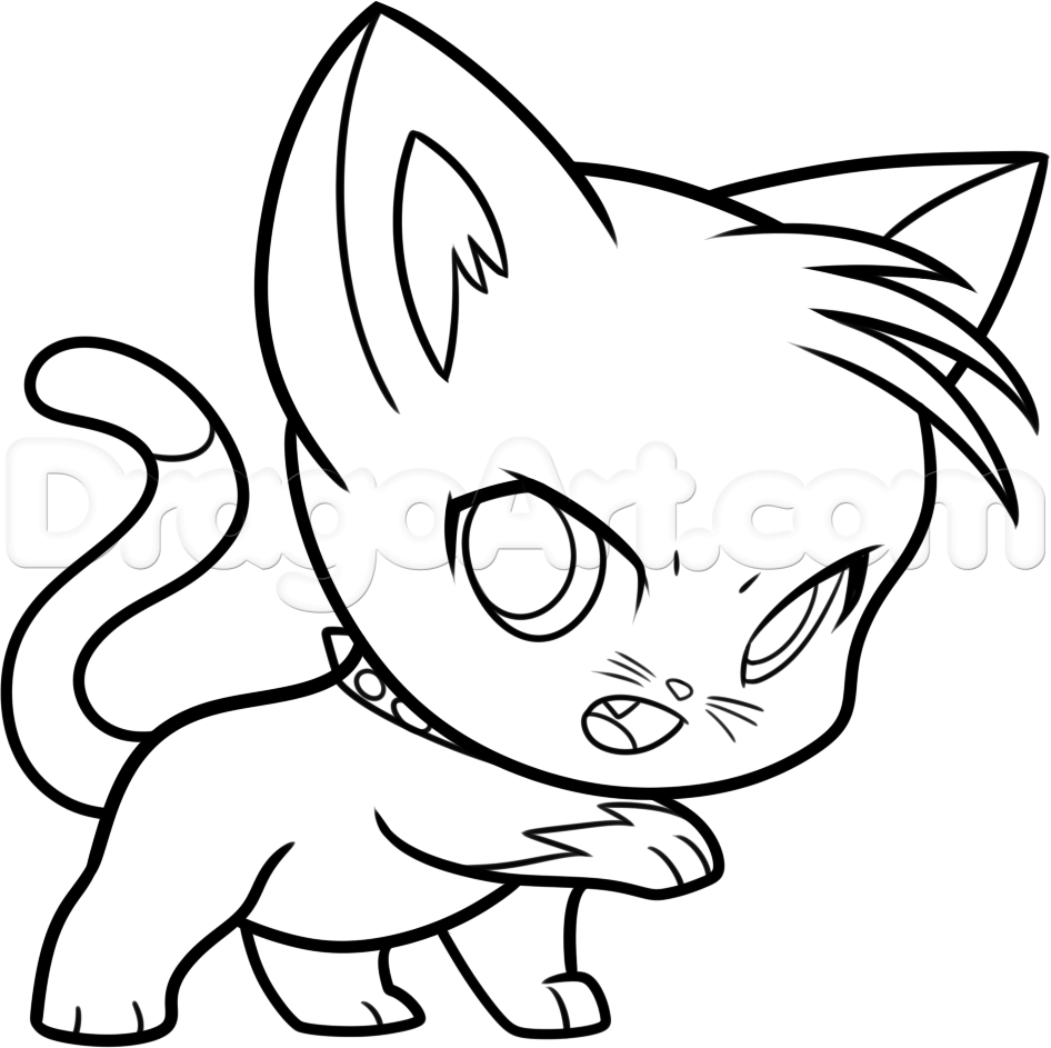 946x943 Drawing How To Draw Anime Chibi Cats Also How To Draw A Chibi