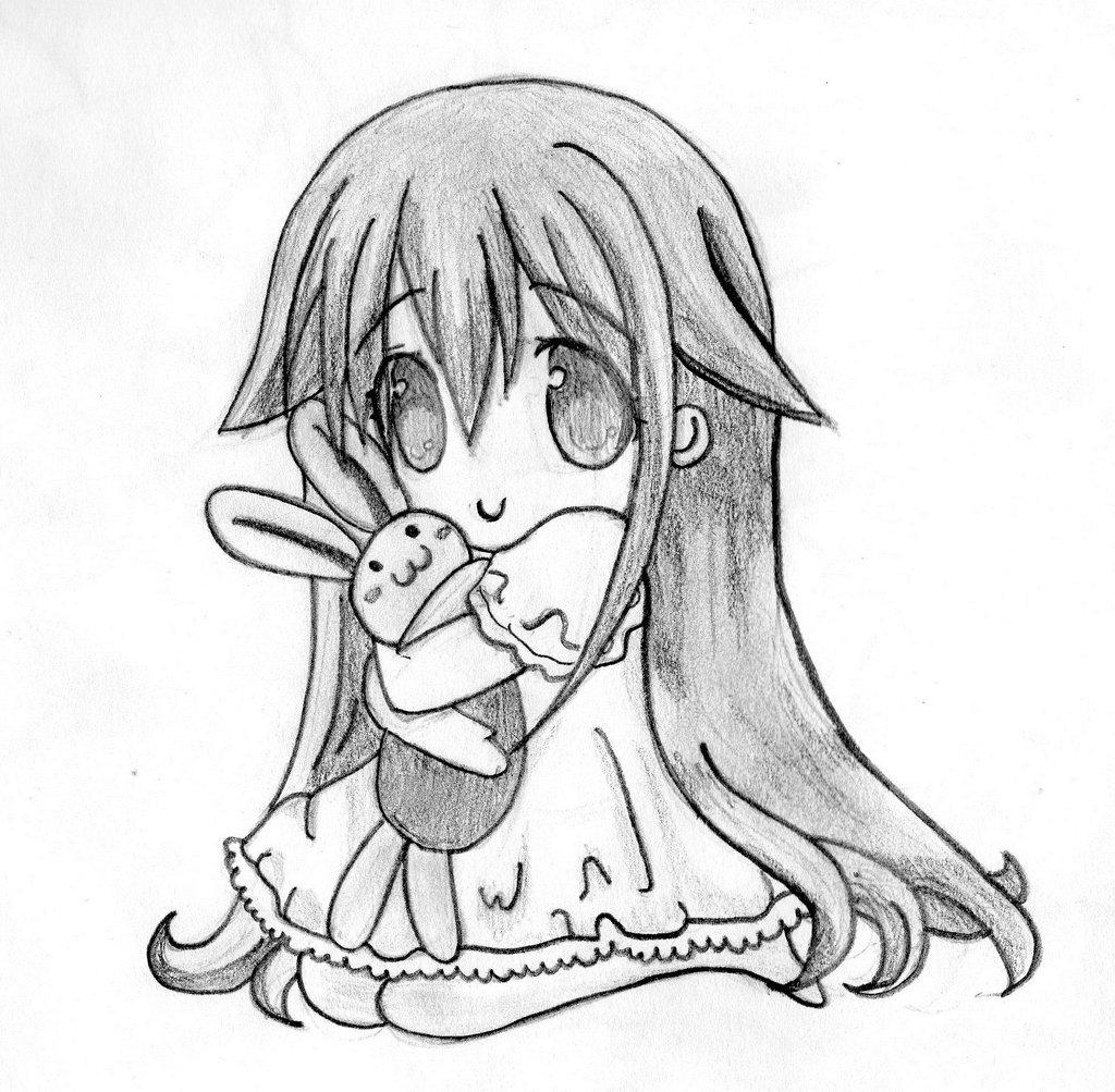 1024x1003 Easy Anime Drawings In Pencil Chibi Cute Chibi Anime Drawings