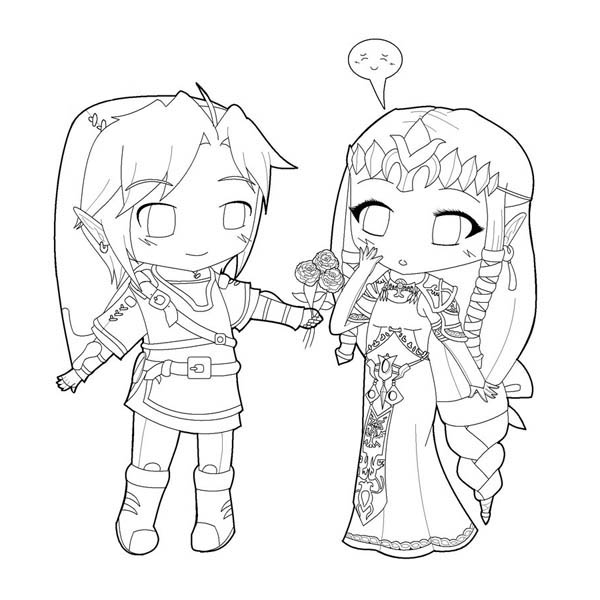 600x600 Zelink Cute Chibi Drawing Coloring Page