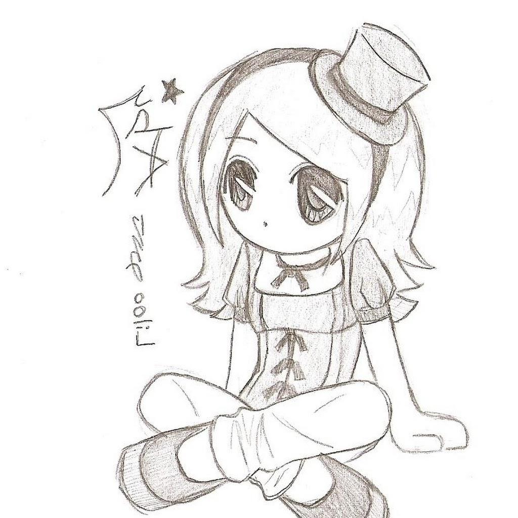 1024x1024 Anime Chibi Drawings In Pencil Pause Chibi (Pencil) By Takkunotori