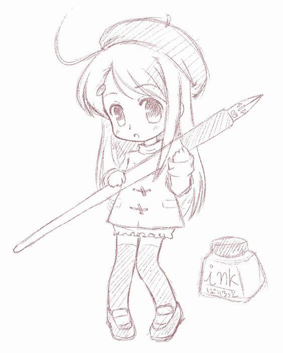 564x704 Anime Chibi Drawings Pencil 17839code.png Artingak