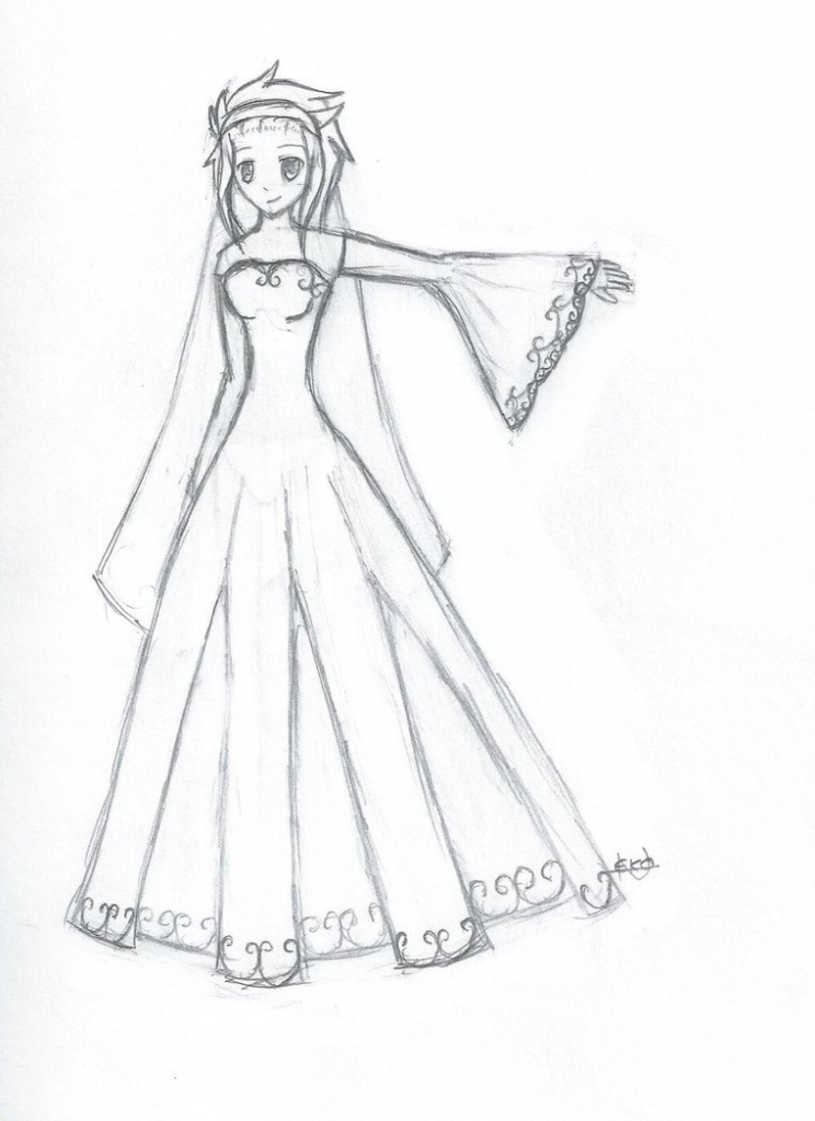 744x1024 anime dress drawing best photos of anime clothes template anime