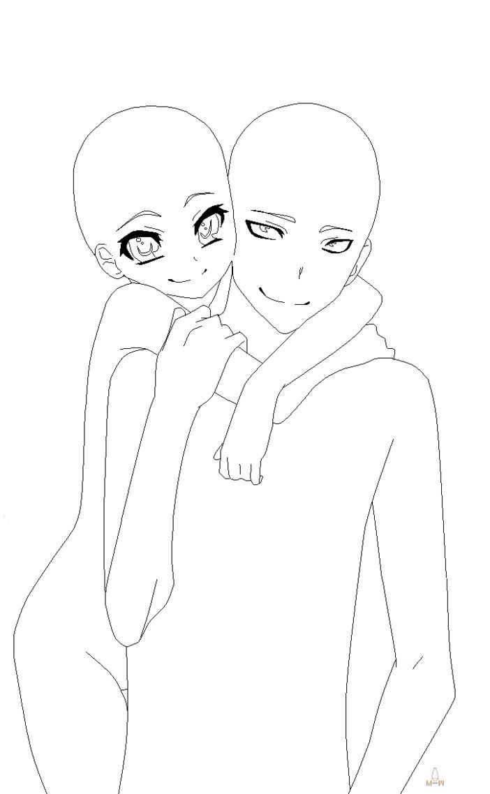 702x1138 Anime Drawings Of Couples Easy Drawings Of Couples Hugging Anime