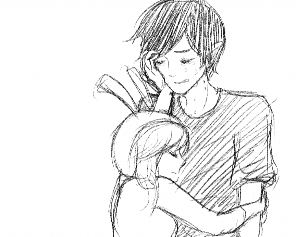 1024x819 Couples Hugging Art Drawing Images Anime Cute Couple Hugging