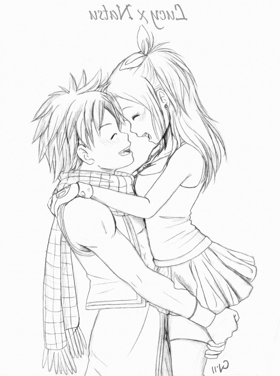 Anime Couple Hugging Drawing at GetDrawings | Free download
