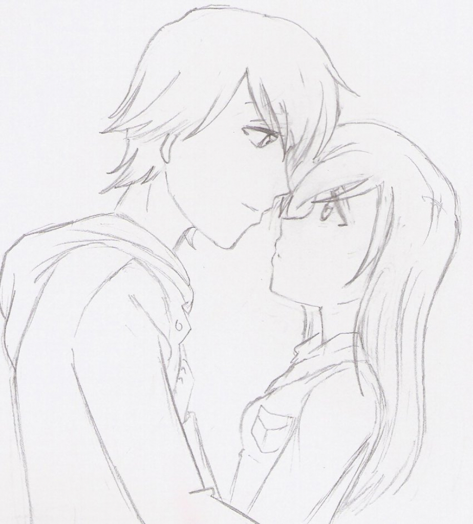 924x1024 Tag Draw Anime Couples Hugging Step Step