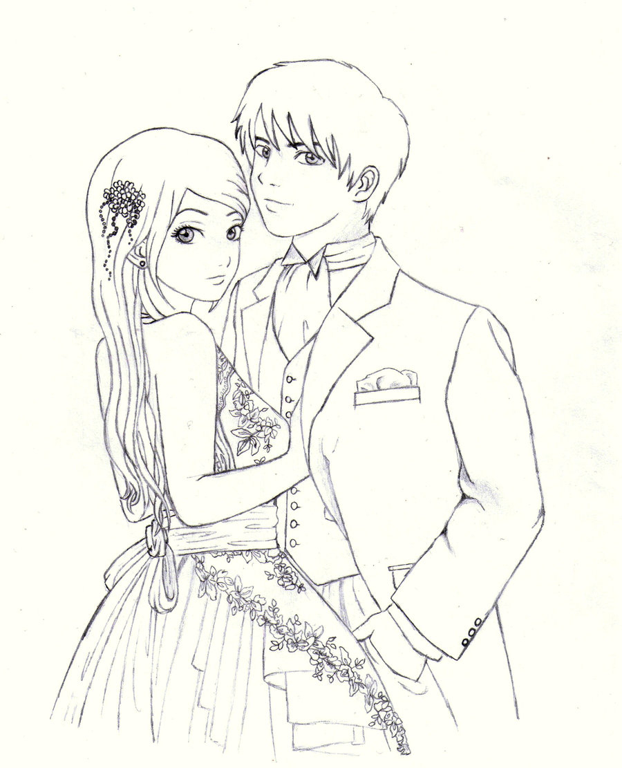 900x1111 Drawings Of Cute Anime Couple In Love