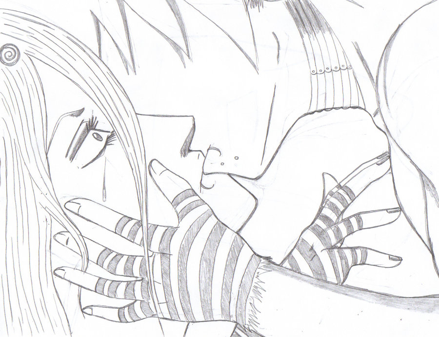 900x692 The Kiss That Stopped Her Cry By Crazy Anime Dude