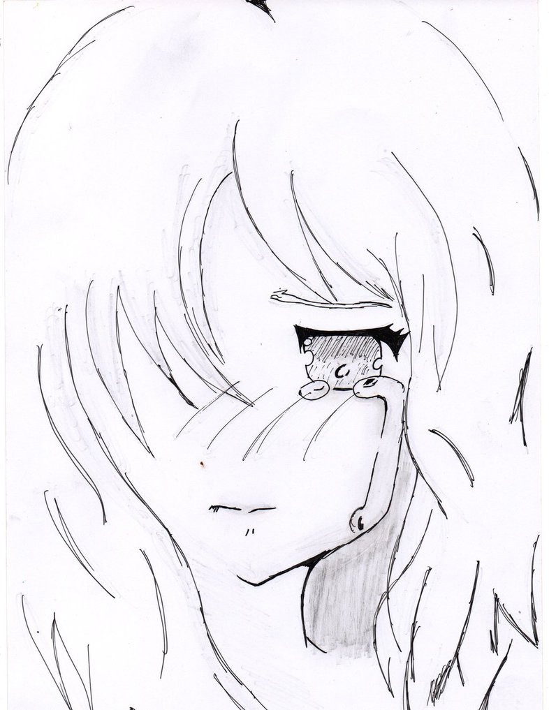 786x1017 Crying Anime Sketch Sad And Lonely By Justforus88