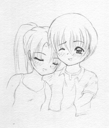 Anime couples in love drawing 3 367x429 chibi couple by tc4000 on deviantart
