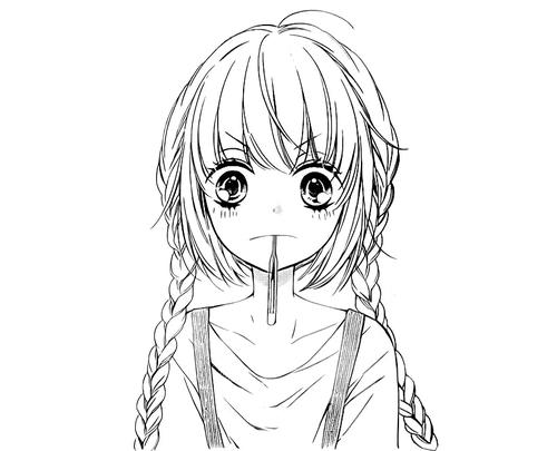 500x405 Cute Anime Girl Drawing Tumblr