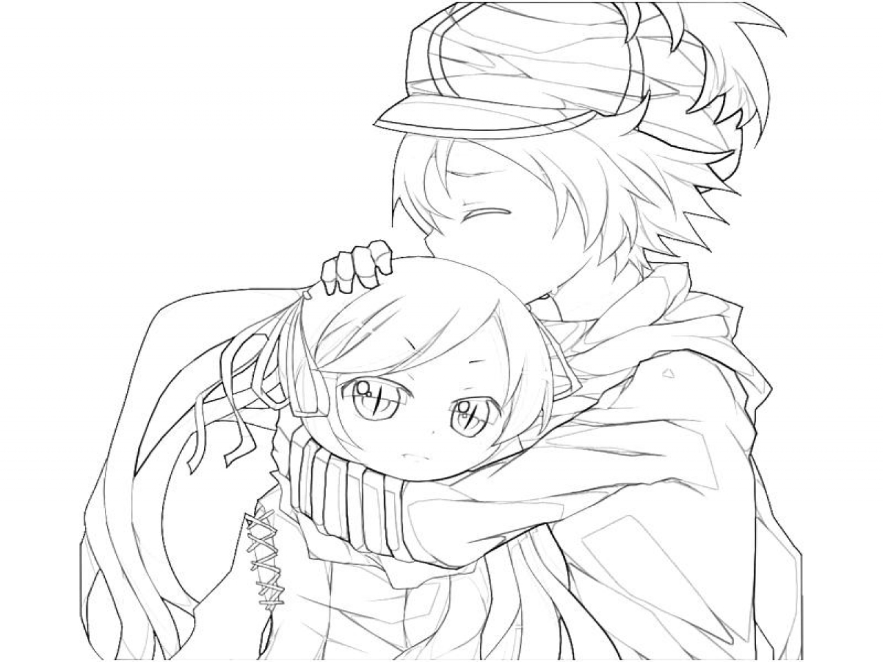 1280x960 Anime Boy Coloring Pages Cute Girl Gianfreda