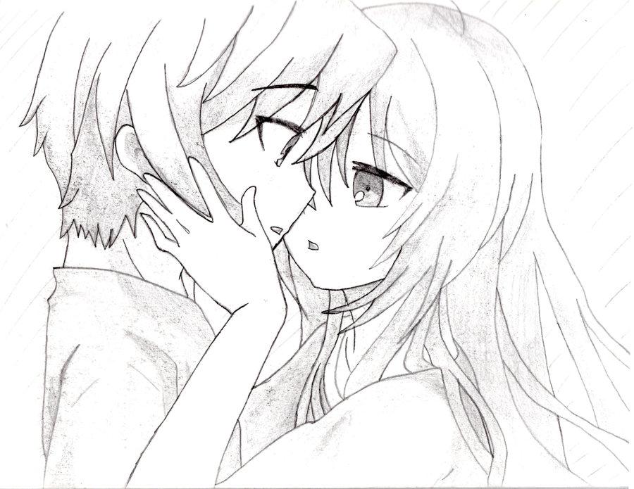 900x695 Drawn Anime Couple