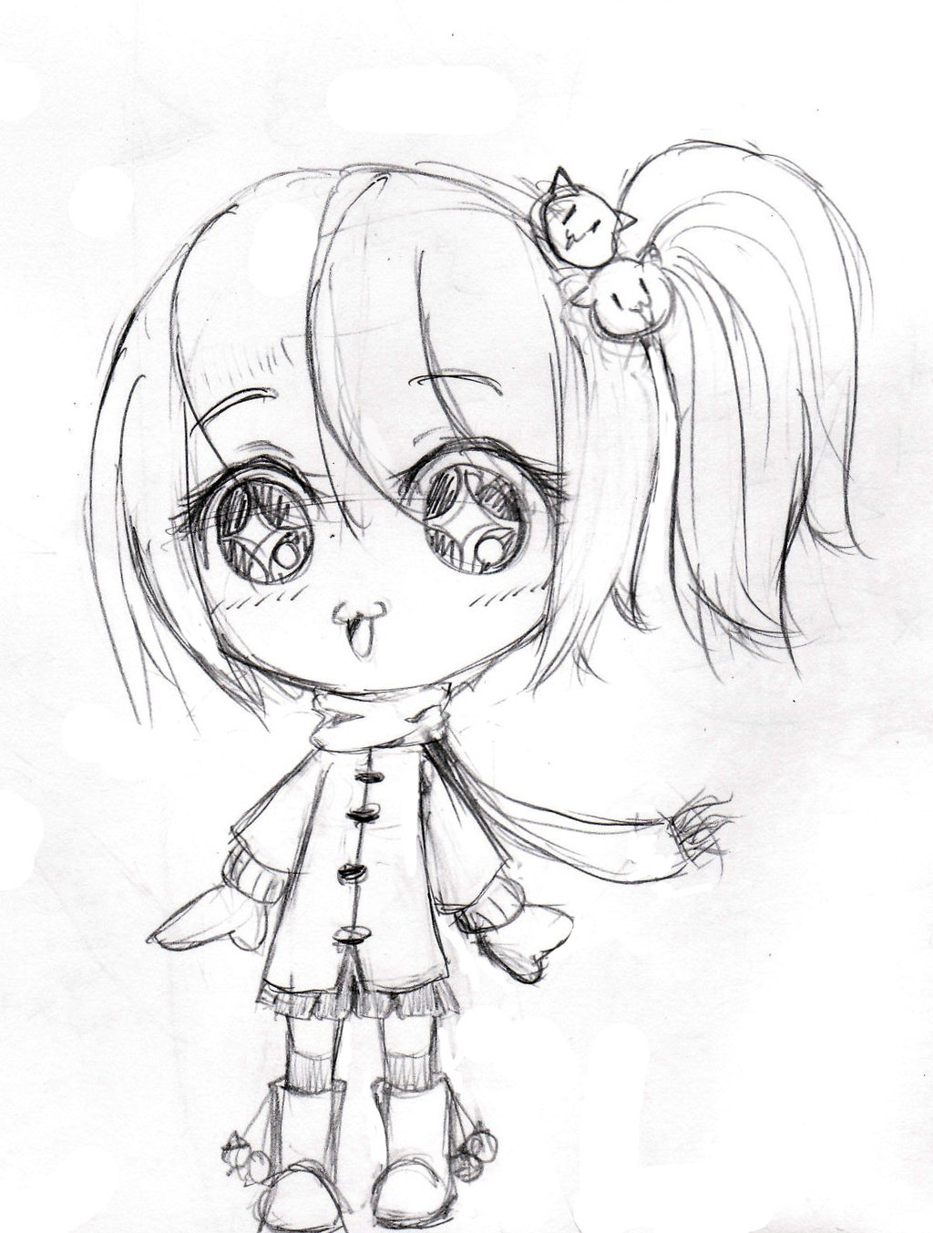 1024x1353 Sketch Cartoon Cute Girl Anime Coloring Pages Anime Girl