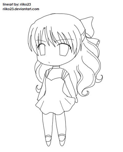 399x494 Anime Chibi Girl Lineart By Riikochan Artworks