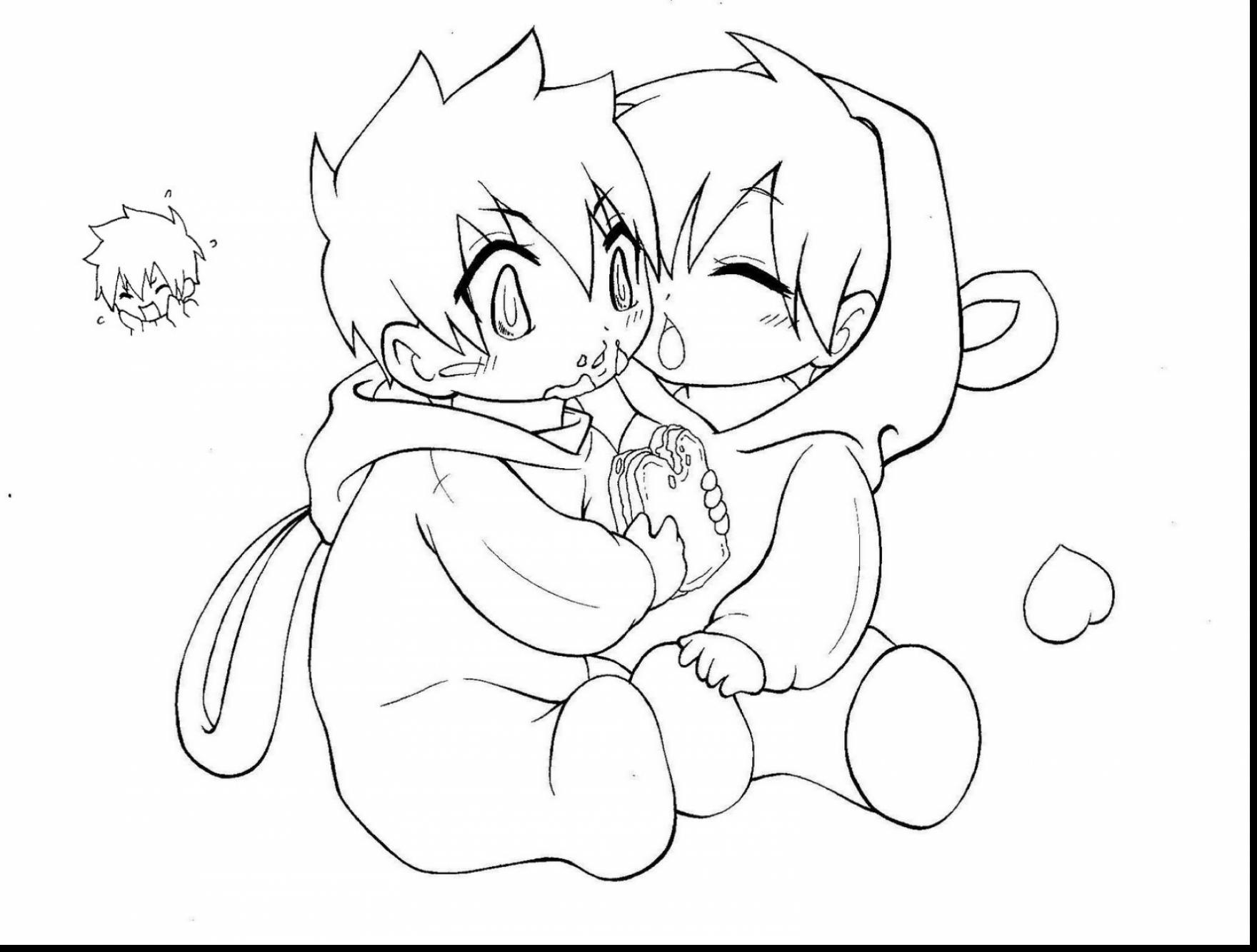 1760x1334 Cute Anime Coloring Pages Page For Kids