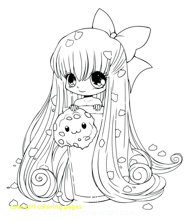 736x870 Anime Girls Coloring Pages Cute Girl Coloring Pages With Cute Girl