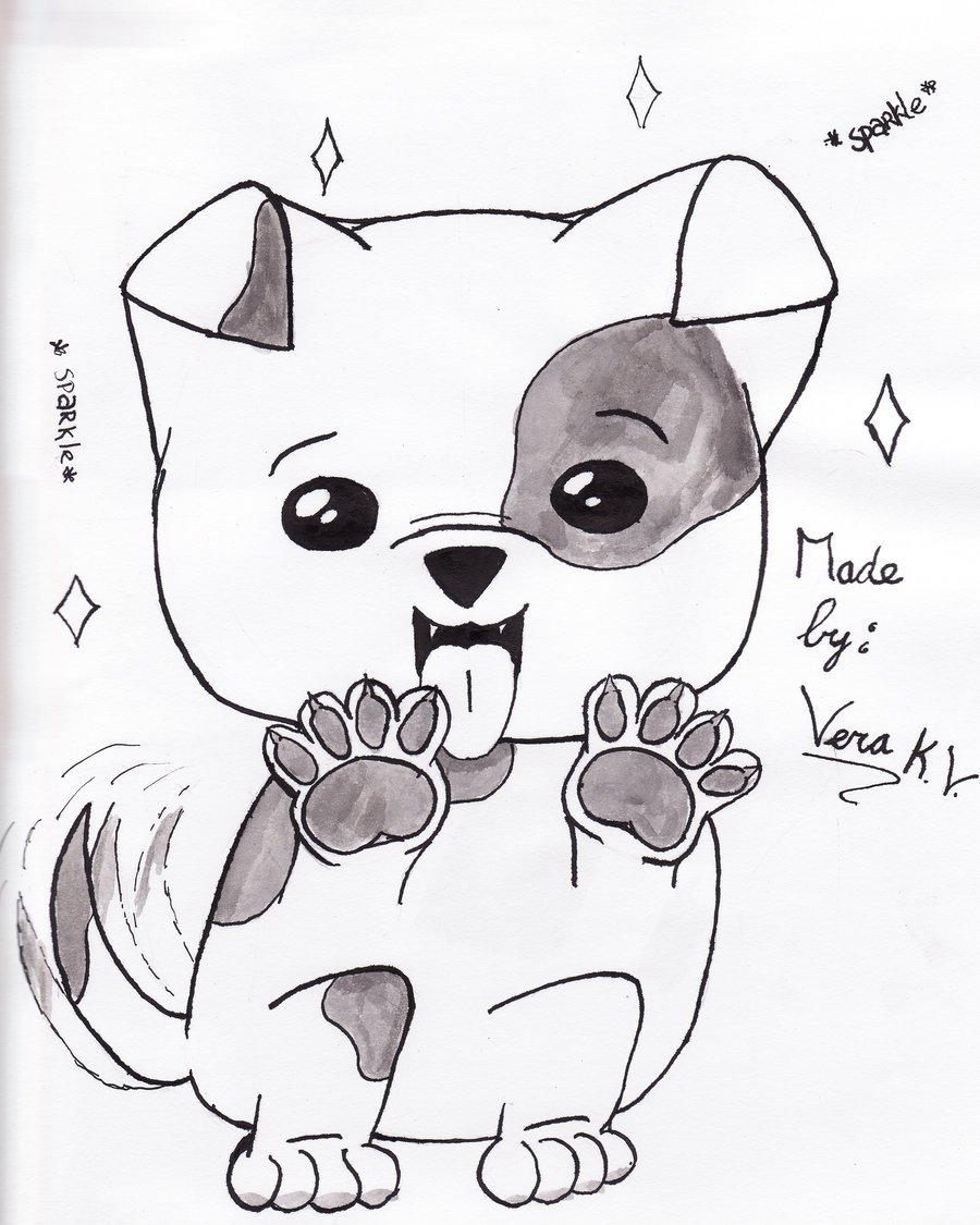 Good Step By Step Anime Adorable Dog - anime-dog-drawing-23  Snapshot_652972  .jpg
