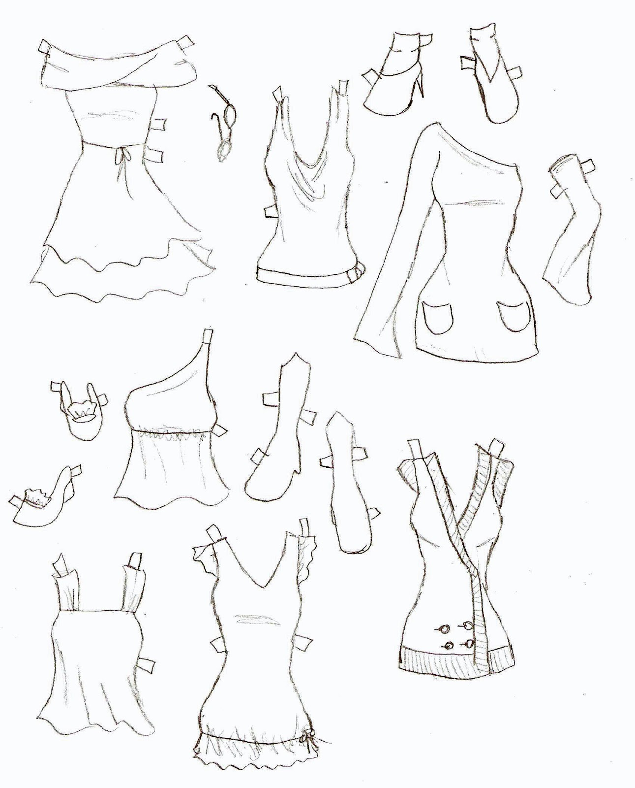 1291x1600 Miss Missy Paper Dolls Lucy Clothes 9