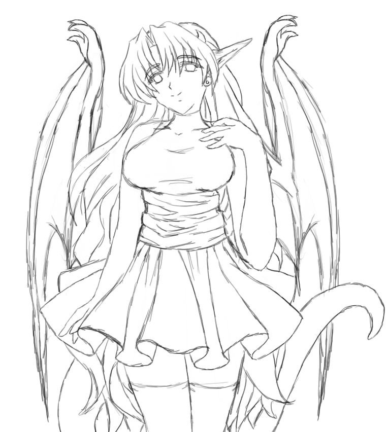 764x852 old dragon girl sketch by msabrehaven on deviantart