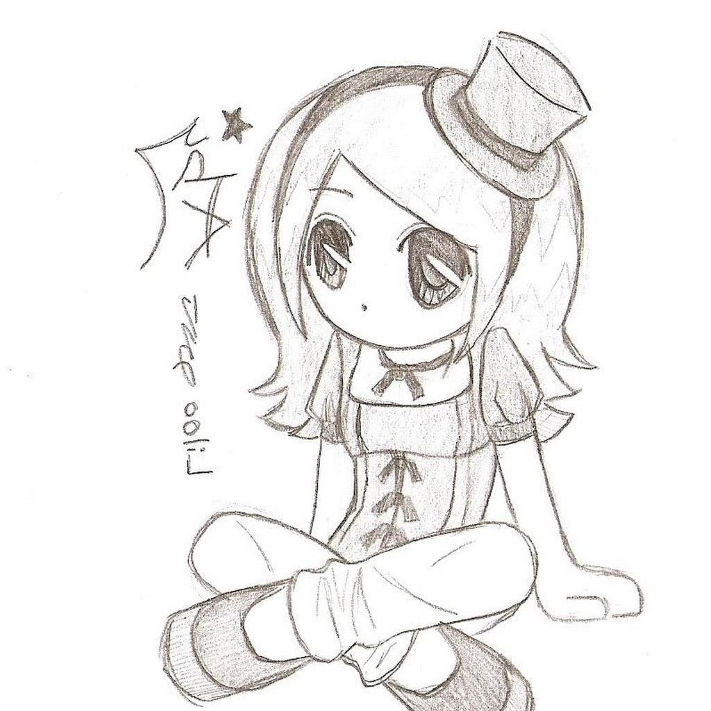 1024x1024 Chibi Anime Drawing Easy Anime Drawings In Pencil Chibi Anime