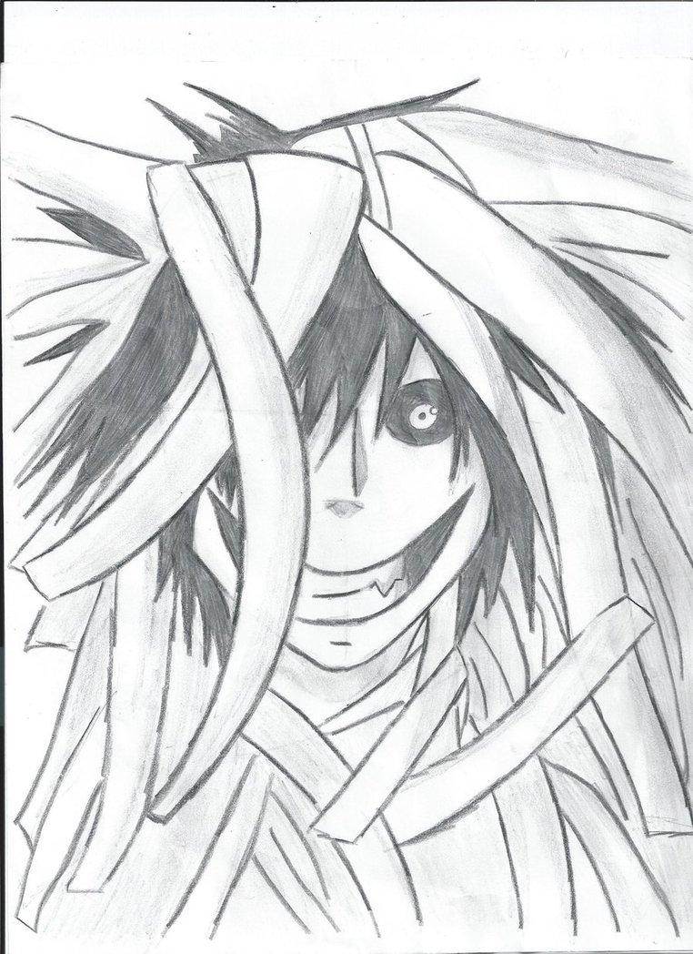 762x1048 Drawn jeff the killer anime