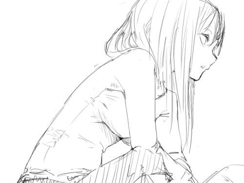 500x375 anime drawing sad anime monochrome anime sad anime girl anime