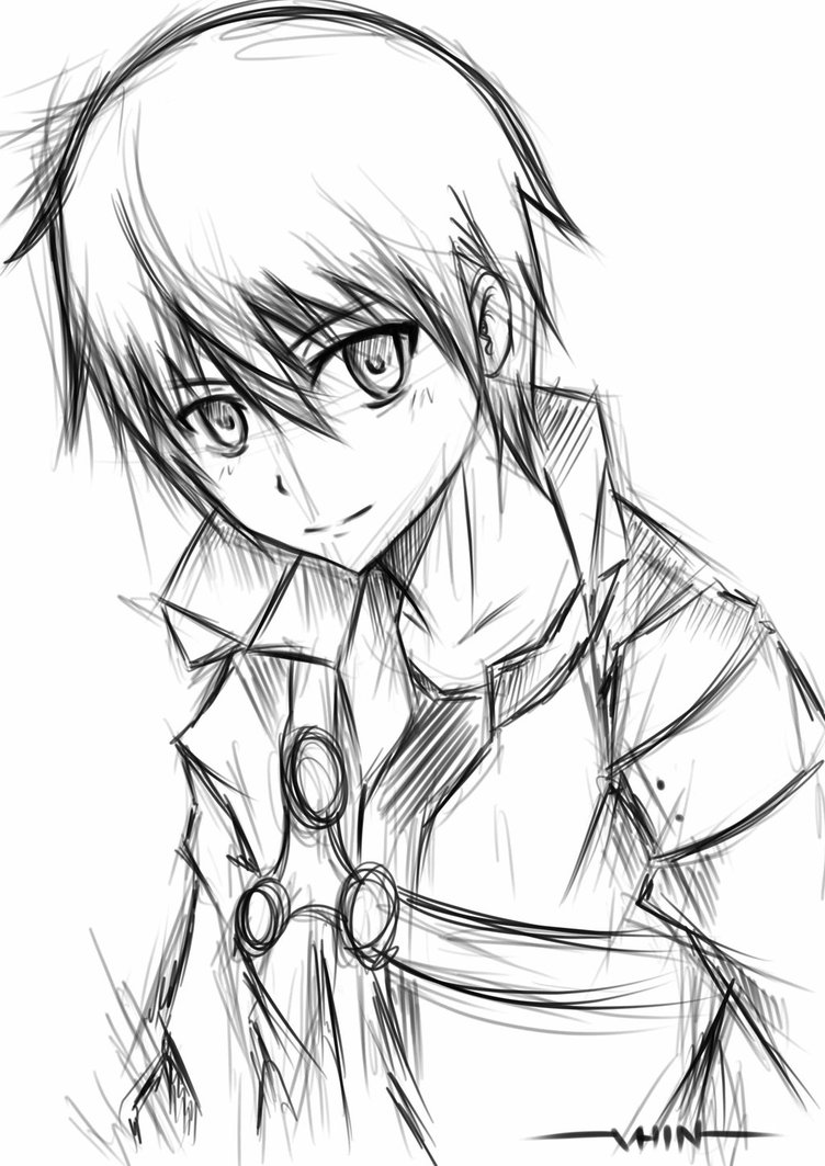 752x1063 kirito sketch by vhinartist on DeviantArt
