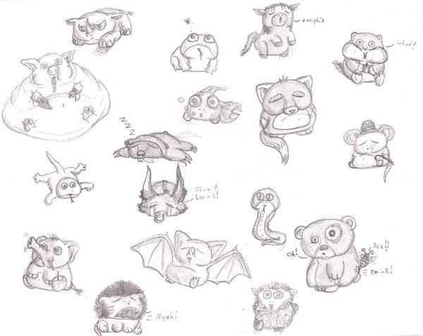 Anime Drawing Animals