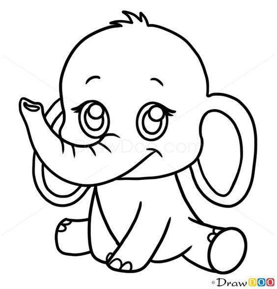 564x588 Basic Drawing Stuff Draw Anime Drawings Easy Elephant