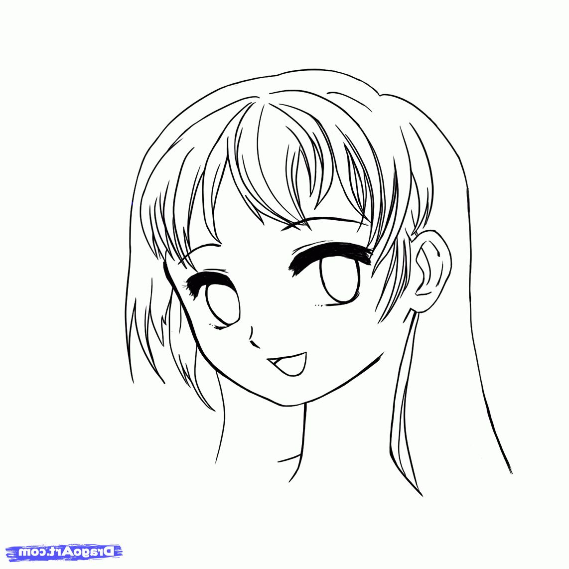 1142x1142 Easy Anime Face Sketches Easy To Draw Anime Faces How To Draw