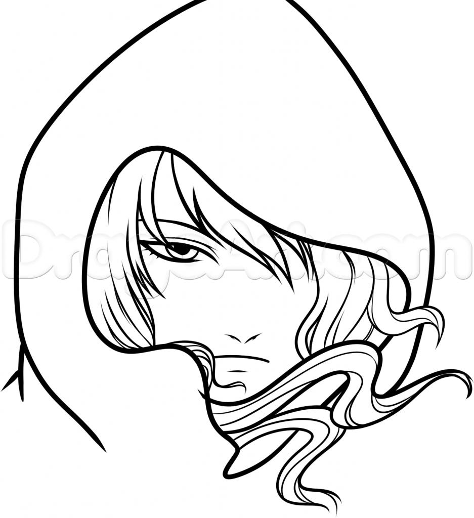 937x1024 Easy To Draw Anime People How To Draw A Hooded Anime Character