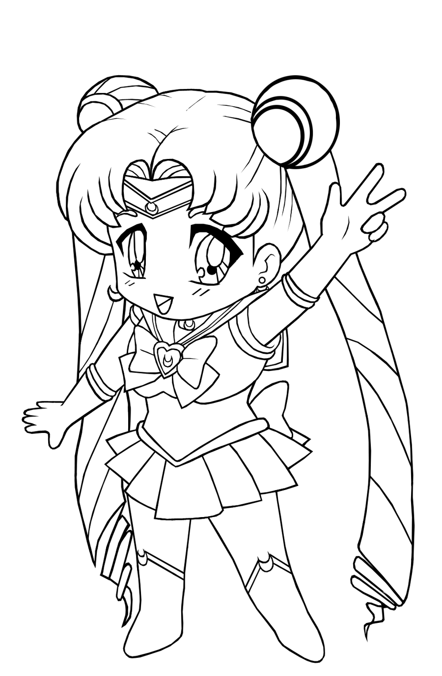 900x1374 And Anime Coloring Pages For Kids
