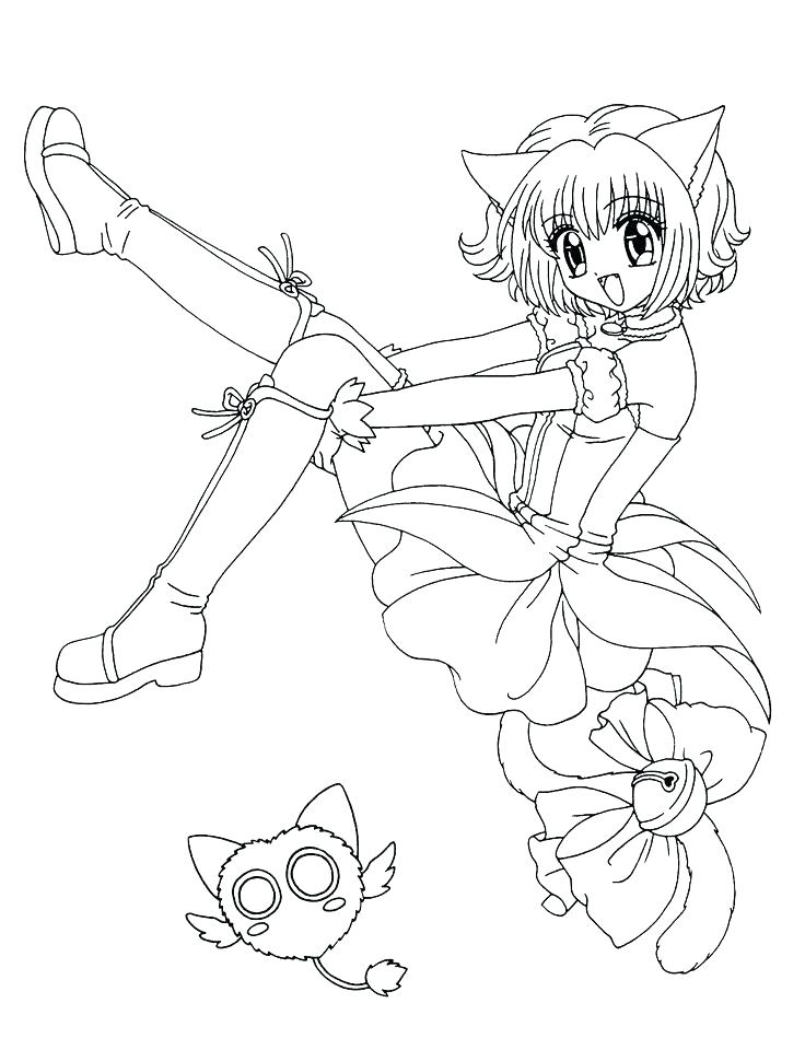 736x960 Mew Coloring Pages Anime Girl Coloring Pages Manga Mew Mew