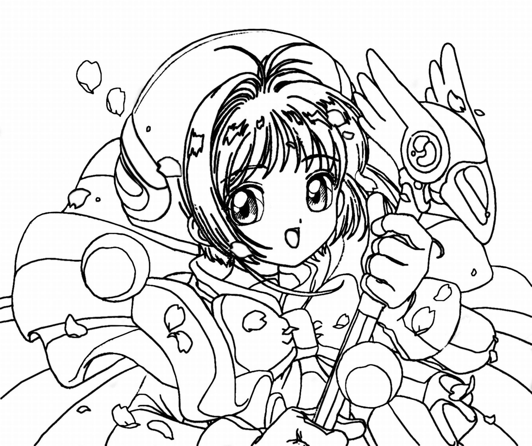 1757x1474 Anime Coloring Pages For Kids Printable In Pretty Draw Image