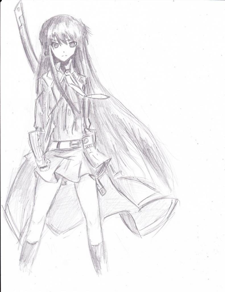 791x1024 Anime Girl Whole Body Sketch
