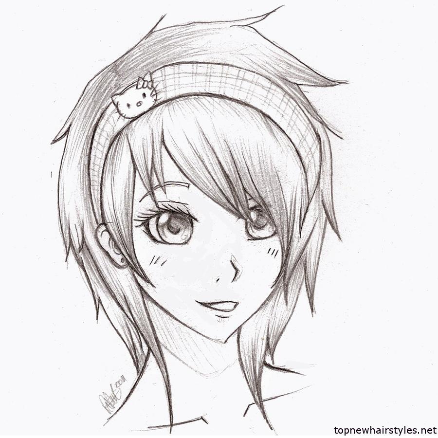 900x900 Cute Anime Girl Drawing