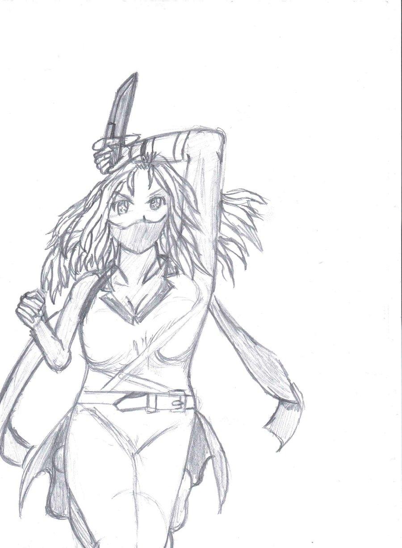 900x1227 Drawn Ninja Anime Ninja