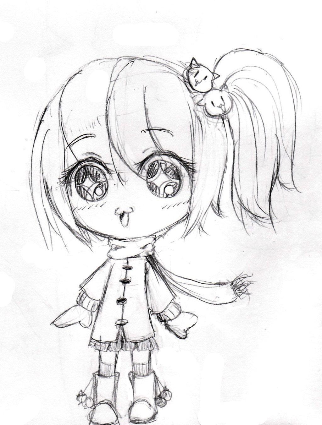1024x1353 Sketch Of Cartoon Girls Anime Girl Sketch