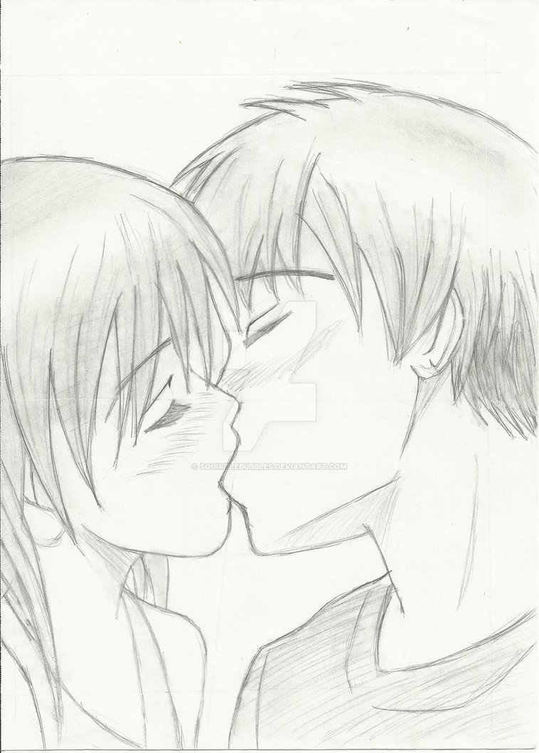 757x1056 Anime Kissing By Squirtlebubbles